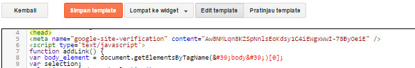 Verifikasi Meta Tag Google