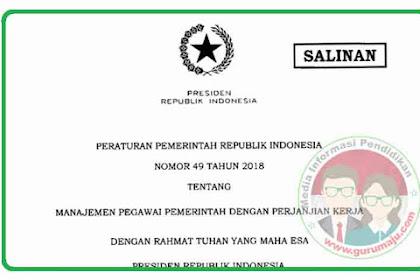 Peraturan Pemerintah PP Nomor 49 Tahun 2018 Tentang Manajemen PPPK