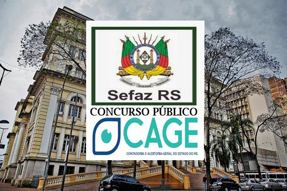 Concurso CAGE Secretaria da Fazenda RS, já tem organizadora