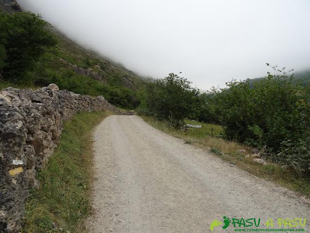 Ruta del Valle del Lago: Pista con señalización