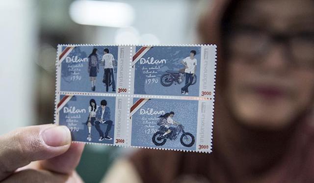 Ini Dia Perangko Terbaru dari PT. POS Indonesia Gambar Dilan dan Milea.