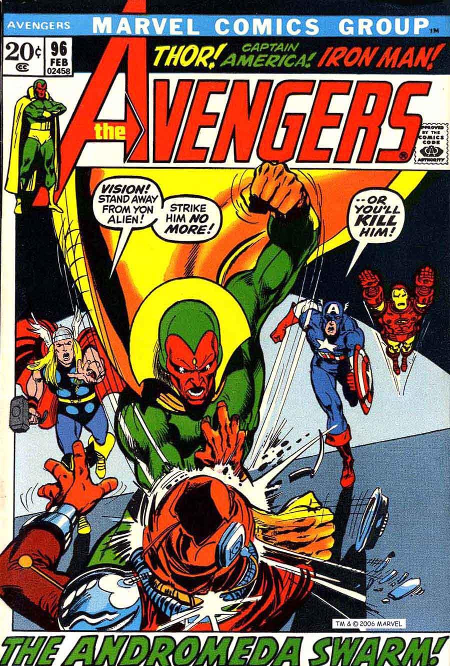 Avengers v1 #96 marvel comic book cover art by Neal Adams