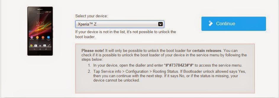 Cara Mendapat Code Unlock Bootloader Xperia Device Terbaru 3
