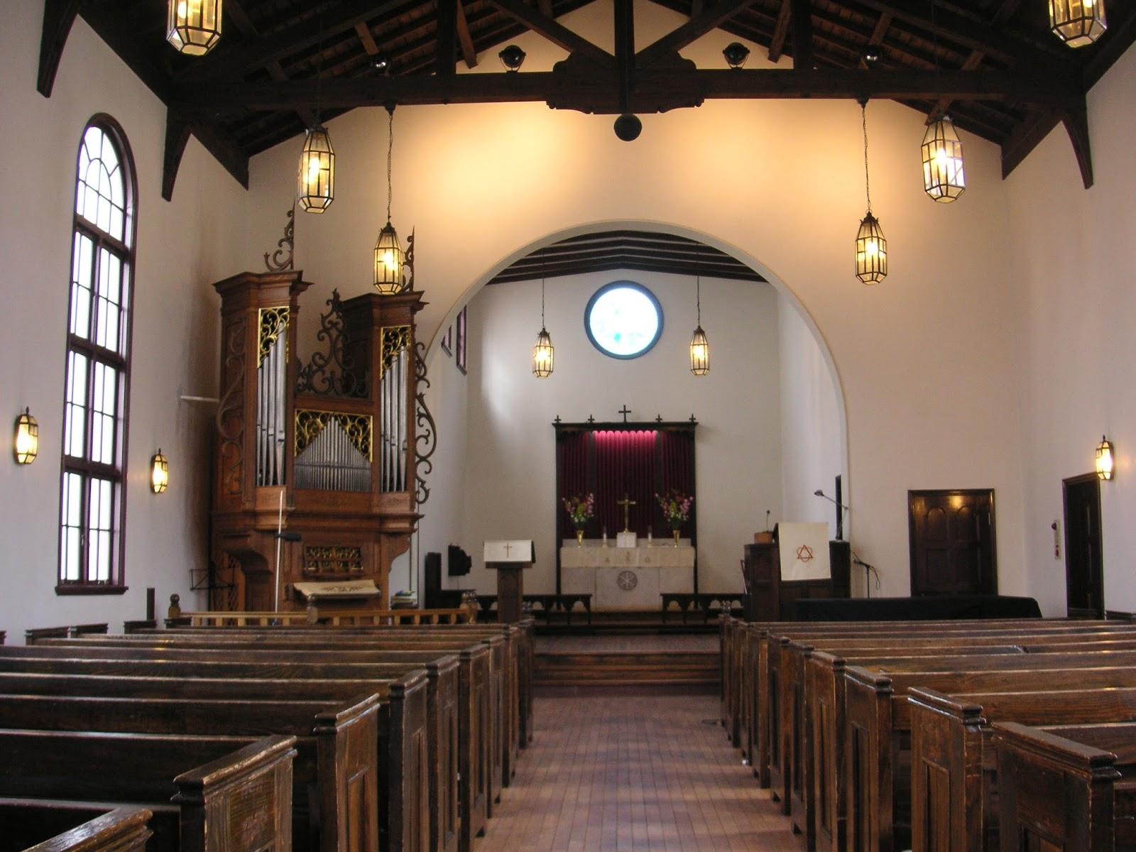 日本福音ルーテル博多教會: 會堂內の様子