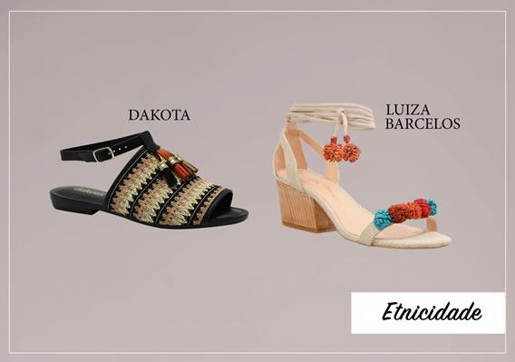 Etnicidade para calçados de Verão 2017