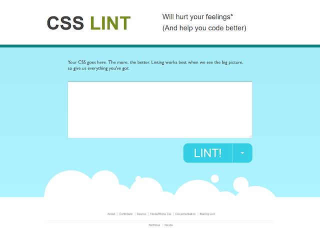 Situs - Situs Untuk Merapihkan Kode CSS - CSS Lint