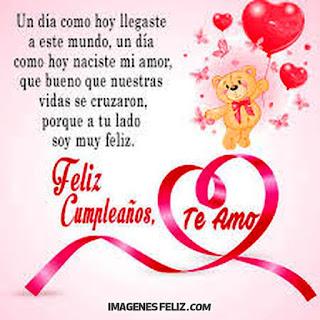 Feliz Cumpleaños Amorcito Te amo