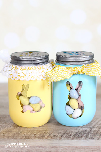 easter bunny diy treat jars