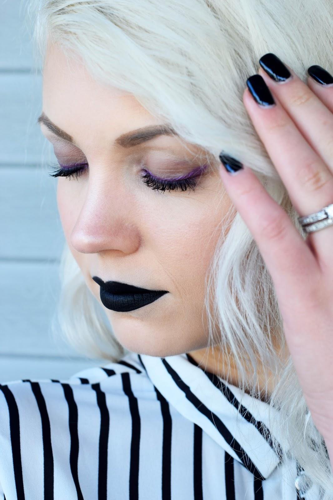 Bold makeup look, Sephora, Sephora cream lip stain, Sephora cream lip stain in night bird,