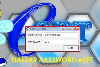 Daftar Lengkap Password eSPT