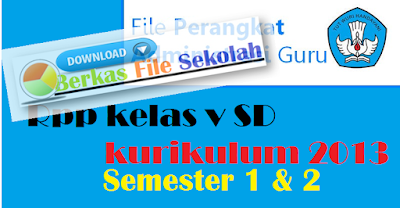 Download RPP kelas V SD kurikulum 2013 : Berkas File Sekolah