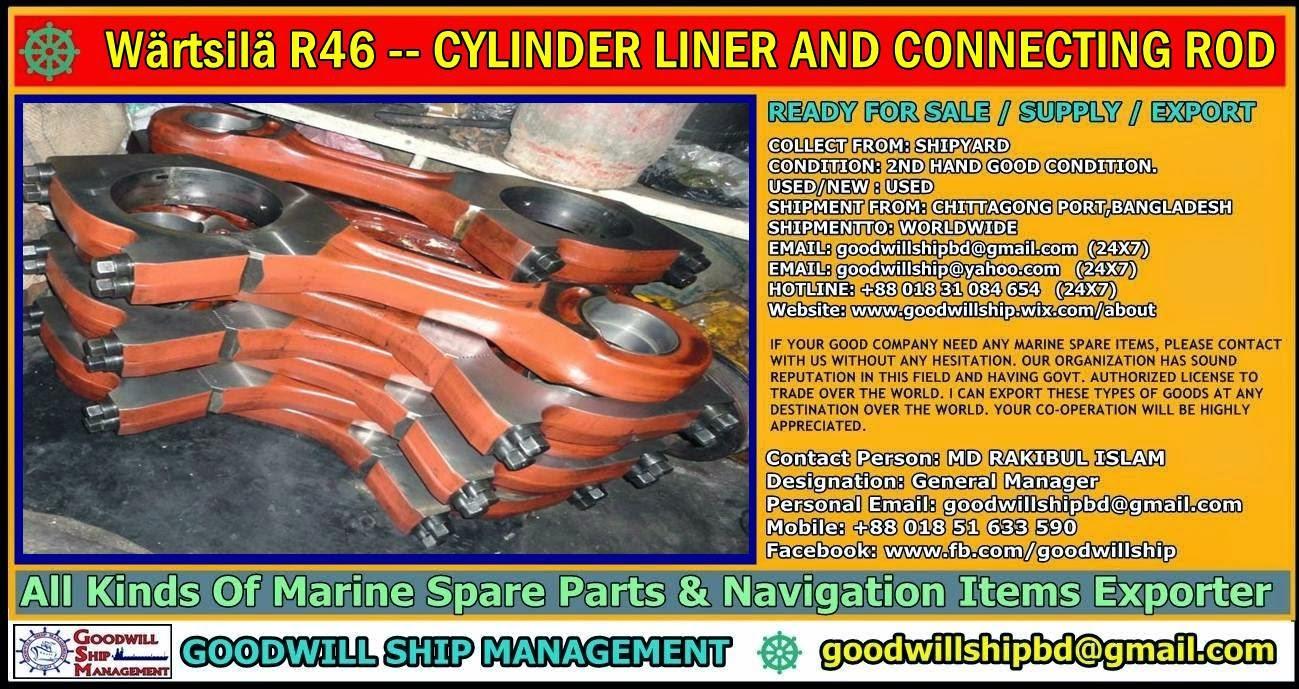 Worldwide Marine Spare Parts Exporter: Wärtsilä R46 CYLINDER LINER