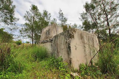 Potongan marmer di Fatu Nausus