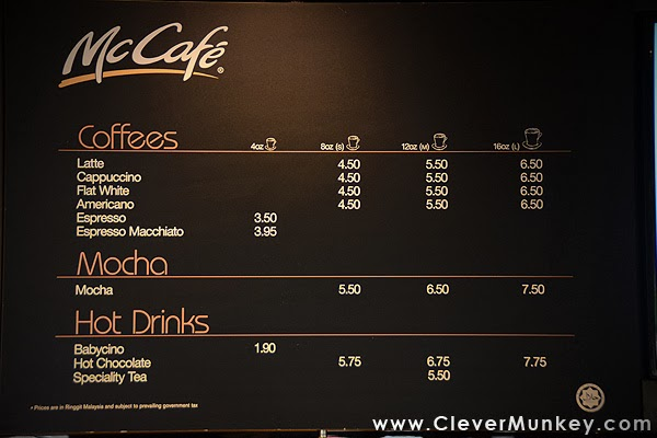 Cafe Menu Display