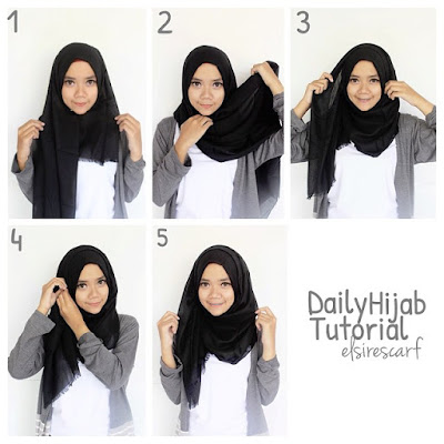Tutorial Jilbab Simple dan Modis
