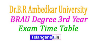 BRAU Degree 3rd Year Exam Time Table 2017