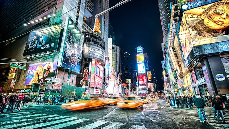 Theater District in Times Square, New York HD