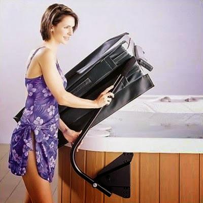 Spa Pool Hot Tub Cover Lift Design Ideas