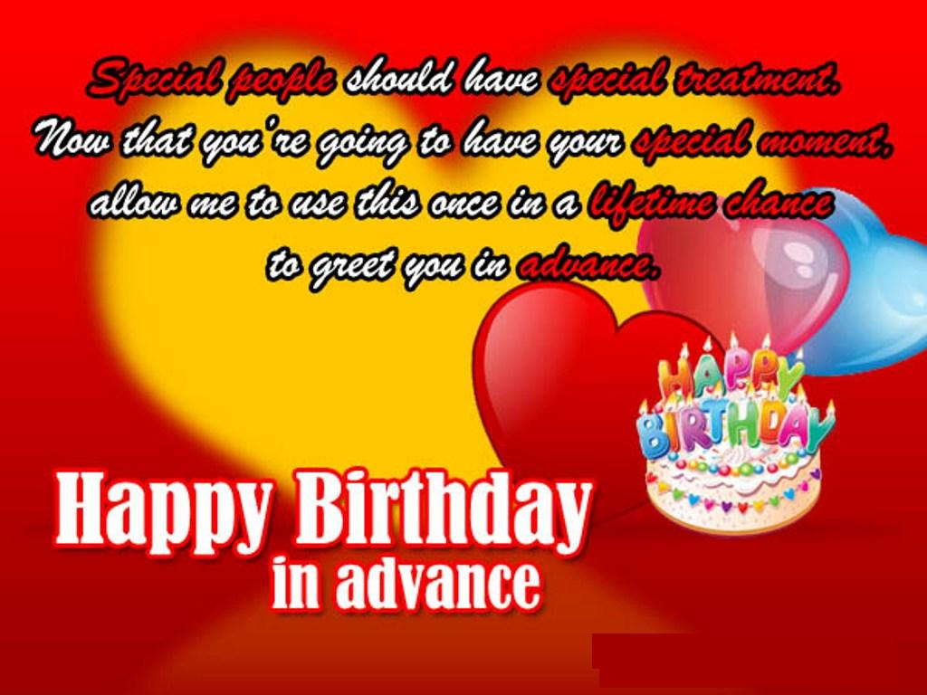 Happy birthday in advance wishes images with romantic love quotes happy birthday in advance bro 8 kristyandbryce Images