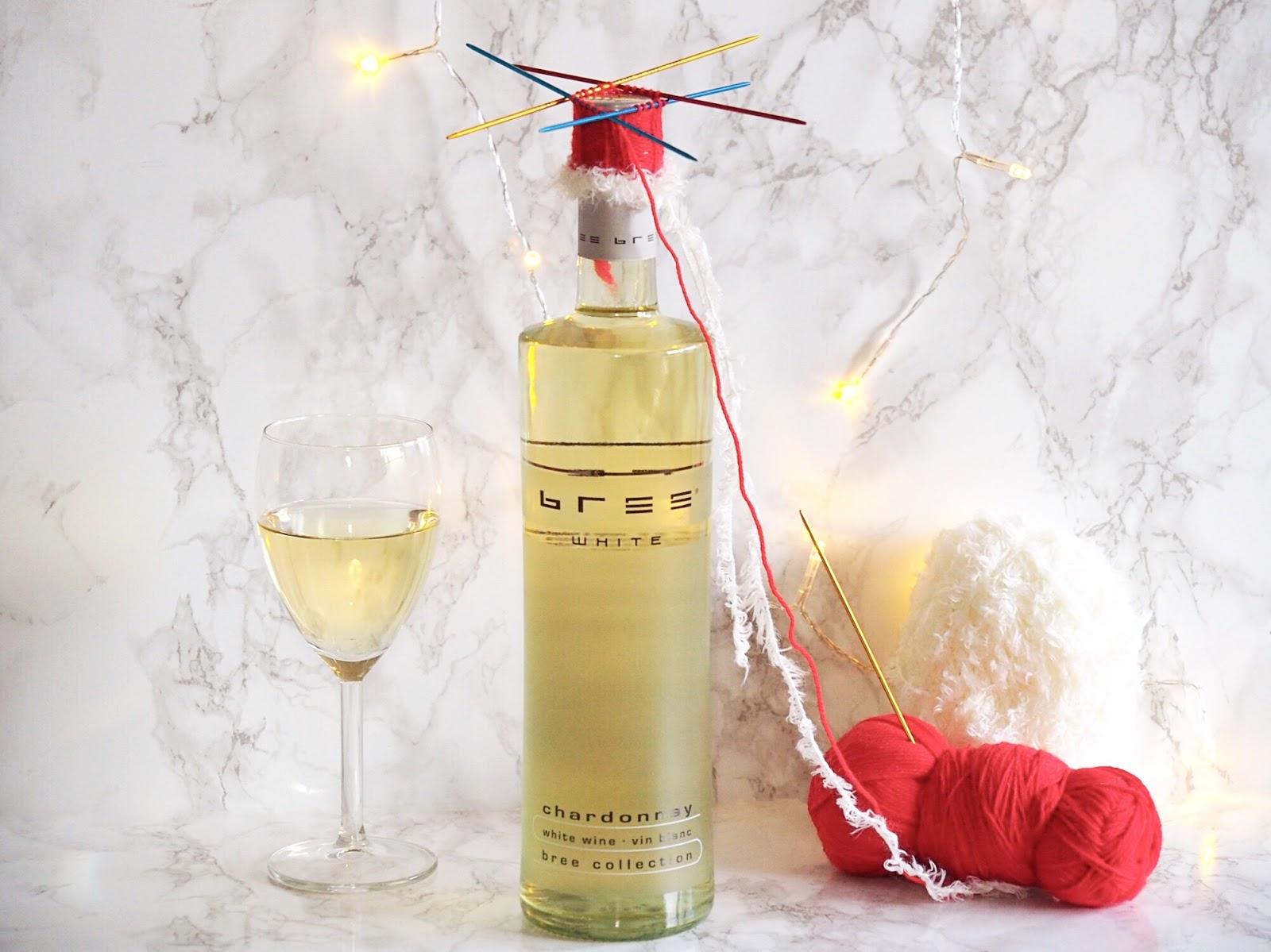 Weihnachtliche Verpackung für Bree Wein stricken