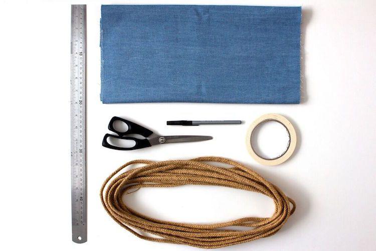 materiales para hacer una guirnalda de tela sin coser