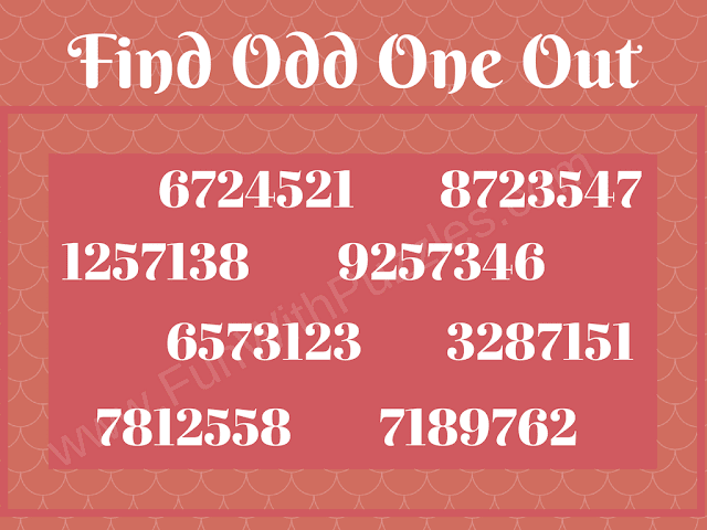 Odd One Out Tough Picture Puzzle