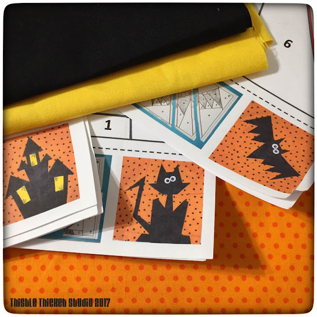 Halloween Paper Piecing Patterns on Thistle Thicket Studio. www.thistlethicketstudio.com