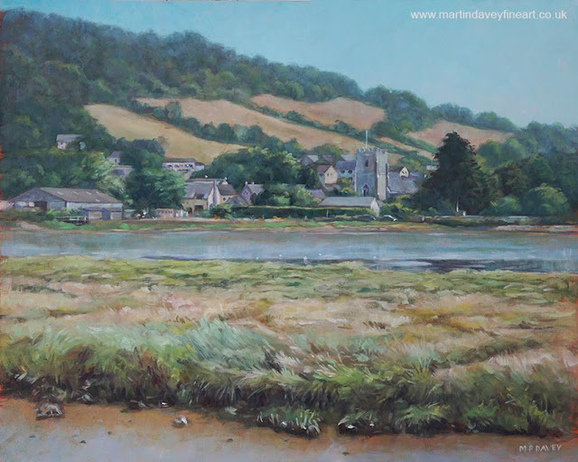 Axmouth painting M P Davey