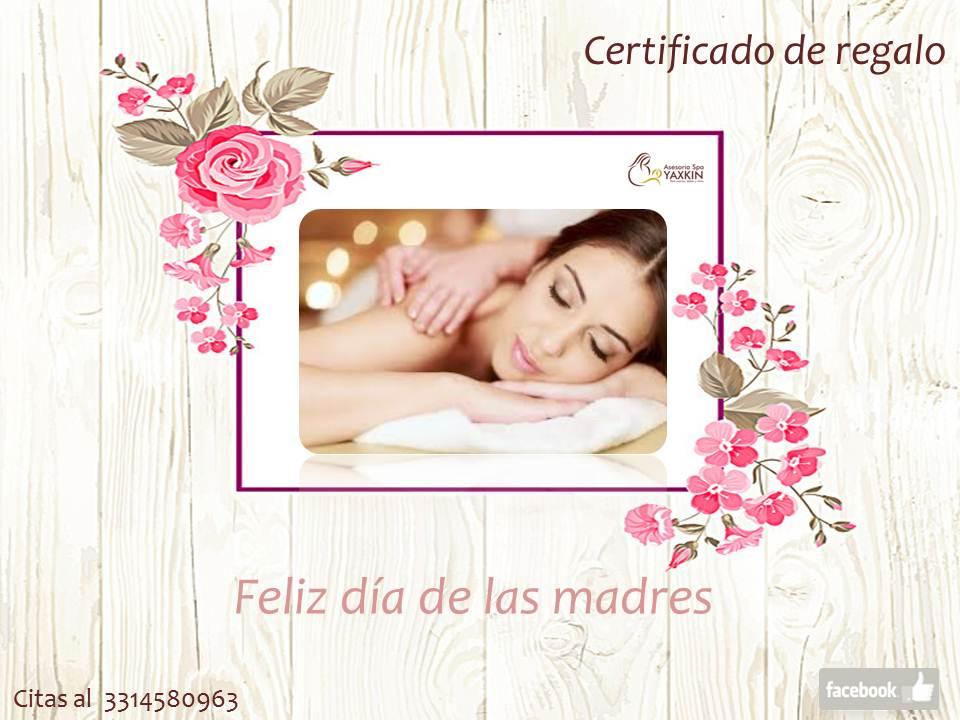 Asesoría Spa YAXKIN Certificado de regalo Día de las madres