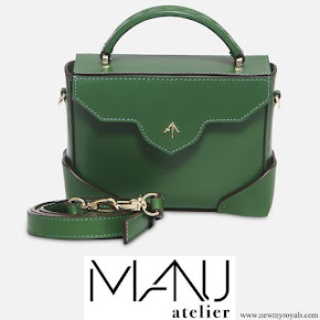 Kate Middleton carried Manu Atelier Green Micro Bold Leather Shoulder Bag