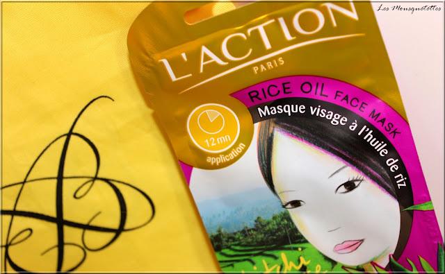 Ma Boîte à Beauté L'Élégante septembre 2015 - L'Action Paris masque visage - Les Mousquetettes©
