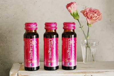 Nước uống trắng da Collagen shiseido enriched