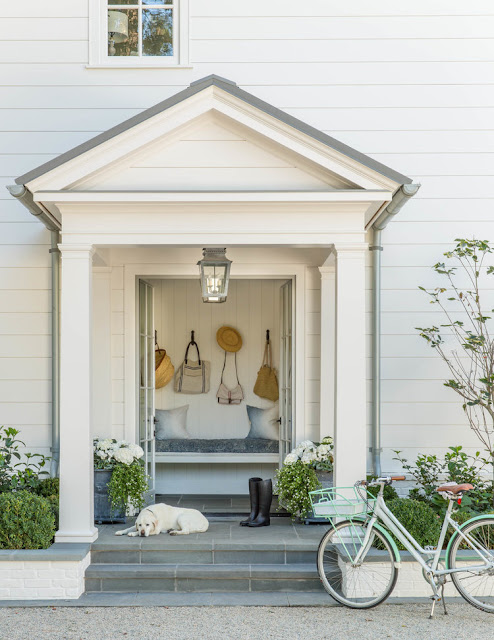 Beautiful modern farmhouse style exterior inspiration on Hello Lovely Studio
