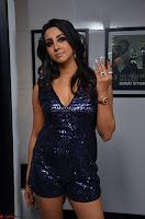 Sanjana looks happy in sparkling short Deep neck Purple Gown ~  Exclusive 45.JPG