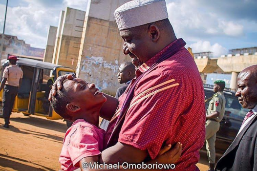 Boy Ran To Embrace Governor Okorocha, Thanks Him For Being A Blessing To Imo State