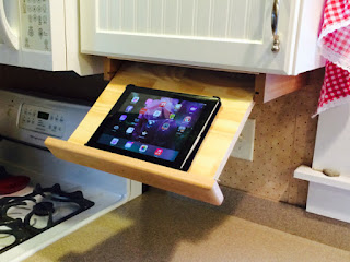 ipad holder for a kitchen cabinet