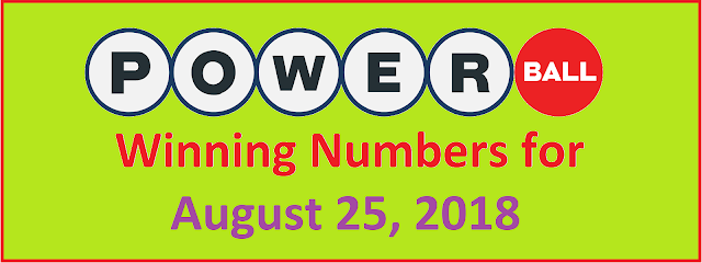 PowerBall Winning Numbers for Saturday, 25 August 2018
