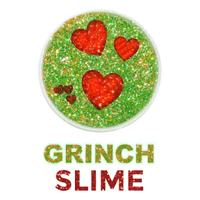 GRINCH SLIME- so fun for kids & only 2 ingredients!!  #slimerecipes #slimeforkids #Christmasslime