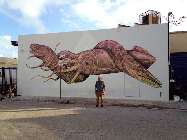 Street Art By Puerto Rican Artist Alexis Diaz In Miami USA for Art Basel 2013. 3