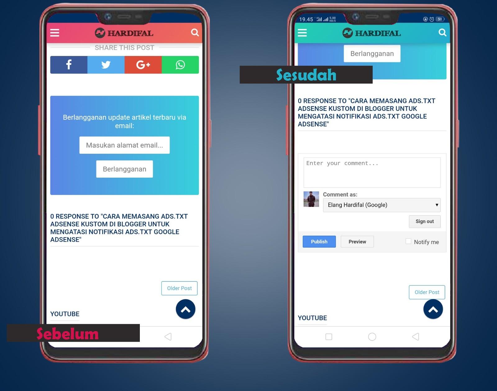 √ [Terbaru] Mengatasi Kolom Komentar Blog Hilang di Versi Mobile (Platform Blogger)