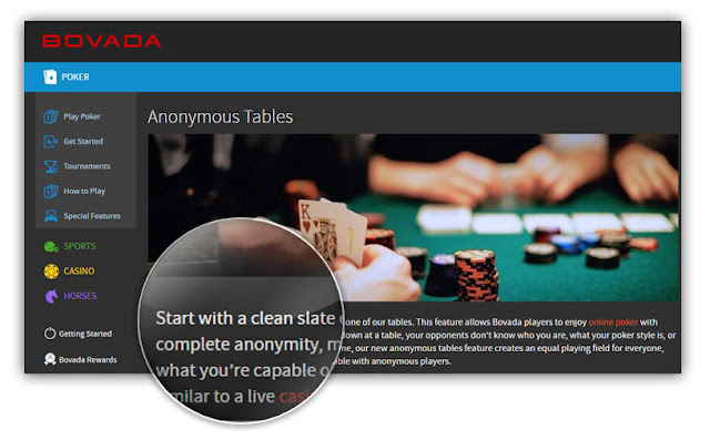 bovada poker anonymous tables