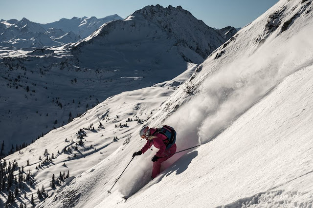 Skifahren Kleiner Rettenstein Kitzbühel in Tirol.