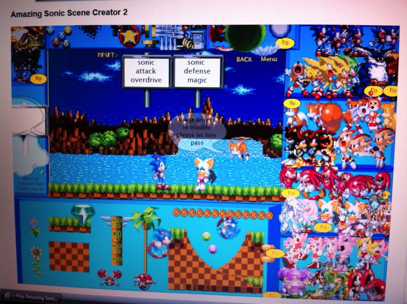 Sonic Scene Creator Games Newgrounds | Games World