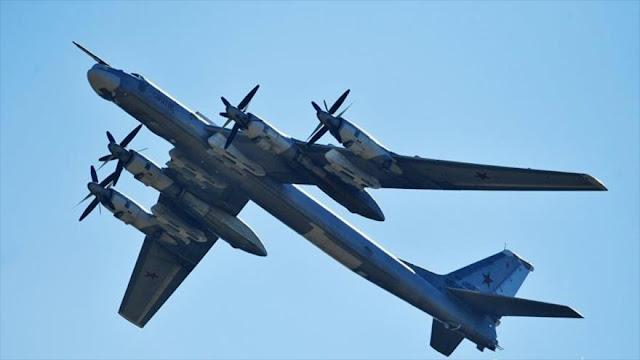Cazas de EEUU y Japón escoltan a bombarderos estratégicos rusos