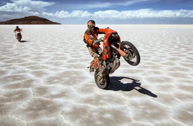 Salt Flat Wheelie