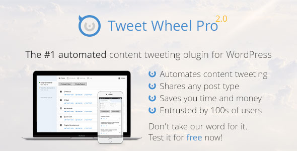 Free Download latest version of Tweet Wheel Pro - Fully Automated Content Tweeting For WordPress Plugin