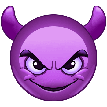 Wicked Purple Smiley