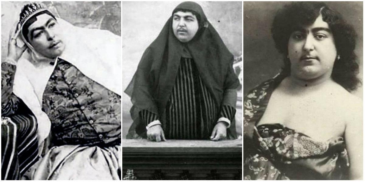 Portraits Of Zahra Khanom Tadj Es Saltaneh The Beauty Symbol Of