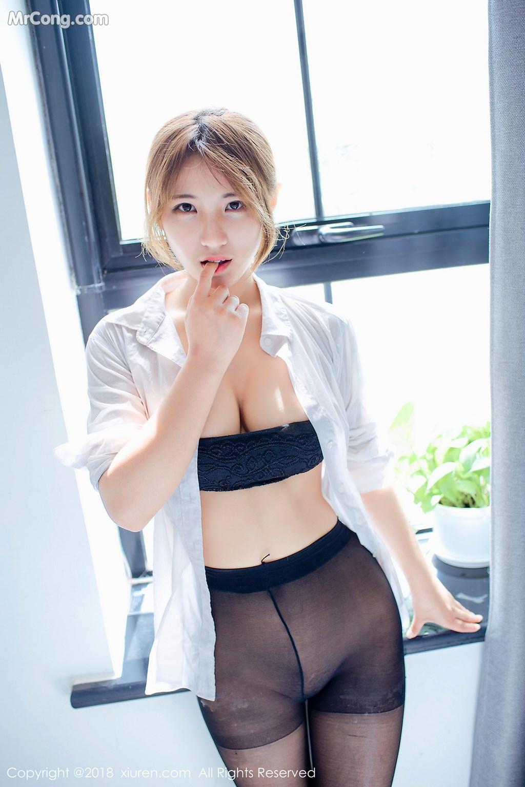 Image XIUREN-No.1015-Aimee-MrCong.com-008 in post XIUREN No.1015: Người mẫu 久久Aimee (50 ảnh)