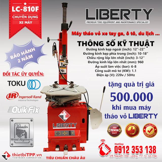 máy tháo vỏ xe tay ga Liberty được bảo hành 2 năm